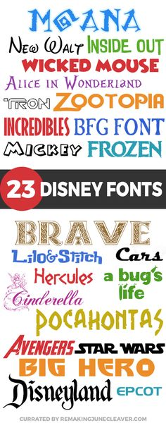 NEW free disney fonts 2017