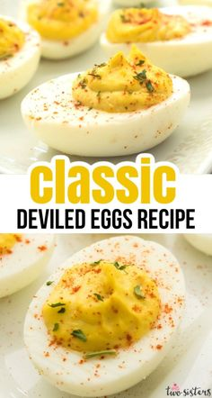 Deviled Eggs - a classic appetizer that everyone should know how to make. Creamy, tangy and and delicious this finger food is always a crowd pleaser.