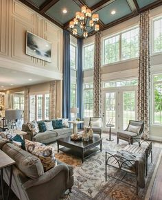 """great room signifies the warmth of family living. By the world class builder @tollbrothers…"""""""