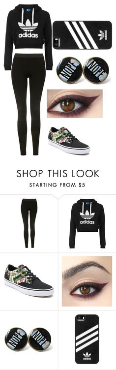 """Untitled #2166"" by aiag ❤ liked on Polyvore featuring Topshop, Vans and adidas"