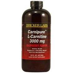 Bricker Labs Carnipure L-Carnitine Raspberry, 16 Fluid Ounce ** Read more at the image link. (This is an affiliate link) #VitaminsDietarySupplements