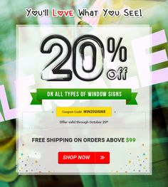 12 best banner buzz discount offers images on pinterest banner 20 off on all types of window signs fandeluxe Images