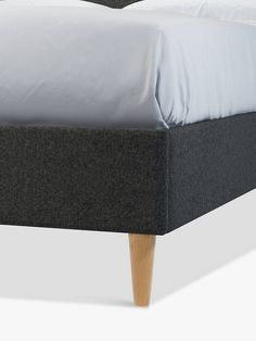 Buy Saga Charcoal John Lewis & Partners Twiggy Upholstered Bed Frame, King Size from our Beds range at John Lewis & Partners. King Size Bed Frame, Upholstered Bed Frame, Chenille Fabric, Velvet Fashion, Twiggy, Outdoor Furniture, Outdoor Decor, John Lewis, Contemporary Design