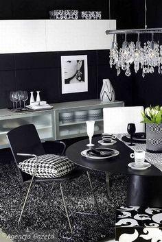Retro Style Black and White Living Room   Picsdecor.com