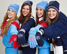 Monogrammed touchscreen friendly gloves by CREATIVEWHIT on Etsy