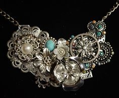 Bibstyle victorian pendant necklace by Brinemere on Etsy
