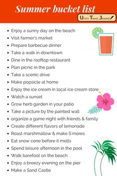 Summer Bucket list f