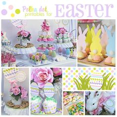 I think I've got Easter Fever!I had so much fun sharing all the great Easter wreaths last week, that I couldn't wait to share some Easter tables that I found! These ph…