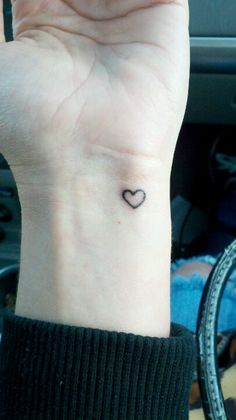 Tattoo #2 Tiny heart. Friendship tattoo. To write love on her arms