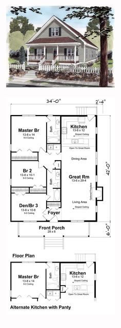 58 Best Bungalow House Plans images | Bungalow house plans, House ...