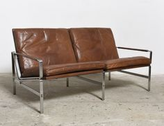 Two-Seat Sofa FK 6720 by Fabricius & Kastholm, 1967