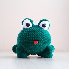 Cute crochet animals by Krempi.  Frank the frog - when you kiss him maybe...who knows :)