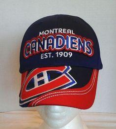 Montreal-Canadians-Raised-Embroidery-Hockey-Team-Cap-Hat-adjustable-NHL