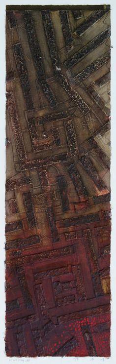 D-24.May.1995  97x30cm  painting, collage on panel  林孝彦 HAYASHI Takahiko 1995