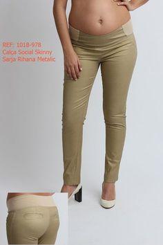 calça social skinny para gravidas