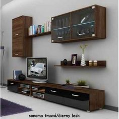 WIP MAGIC Nappali szekrénysor - magasfényű - Natex Nabytok Floating Shelves, Ikea, Flat Screen, Design, Home Decor, Storage Spaces, Furniture, Home Decoration, Blood Plasma