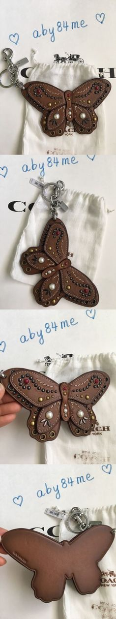 Key Chains Rings and Finders 45237: *Nwt* Coach Studded Butterfly Applique Bag Charm Key Chain F58996 Silver Saddle -> BUY IT NOW ONLY: $59 on eBay!
