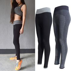 Womens Fashion Sexy Yoga Sports Pants Elastic Wicking Force Exercise Tights Legings