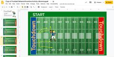 Football Themed Behavior Incentive Activity: Google Slides Template Behavior Incentives, Getting Things Done, Presentation, Ipad, Football, Templates, Activities, Google, Kids