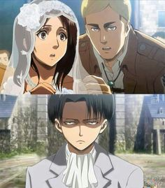 Levihan wedding . So funny :D my OTP