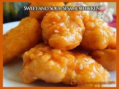 Sweet and Sour Sesame Chicken http://www.bestyummyrecipes.com/sweet-sour-sesame-chicken/
