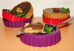 Tartaletky s kokosovým mliekom, čokoládou a jablkami (fotorecept)