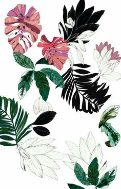 Discovered by ヽ(*≧ω≦)ノ. Find images and videos about art, flowers and wallpaper on We Heart It - the app to get lost in what you love. Illustration Botanique, Illustration Art, Floral Illustrations, Landscape Illustration, Art Watercolor, Motif Floral, Botanical Art, Textures Patterns, Flower Prints