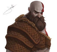 ArtStation - Kratos God of War, joao vagner Kratos God Of War, Cartoon Styles, Cartoon Art, Fantasy Drawings, Fantasy Art, Game Concept Art, Suit Of Armor, Comic Movies, Illustrations And Posters