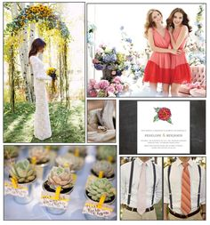 Bright & Somewhat Boho, Wedding; I actually like this more than I thought I would at first glance.