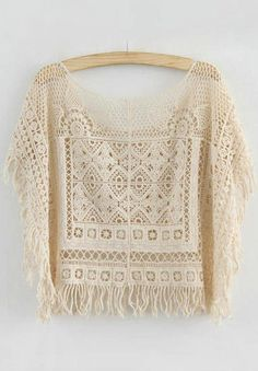 Japanese style crochet lace top