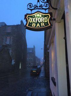 The Oxford Bar in Edinburgh, favorite hang out of Ian Rankin's fictional detective, John Rebus.