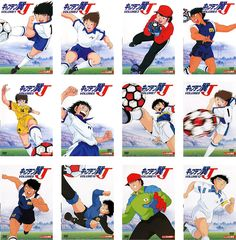Captain Tsubasa, Anime Sports, Manga, Fujoshi, Sasuke, Suit, Cartoon, Baseball Cards, Lifestyle
