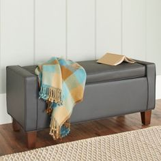 Superieur Chatham House Streeter Storage Ottoman In Grey   Www.BedBathandBeyond.com