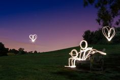 Love At First Light (Light Painting), Kent by flatworldsedge, via Flickr