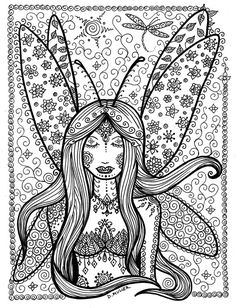 Downloadable Fairy to Color You be the Artist by ChubbyMermaid
