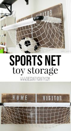Sports net: toy storage for boys room, playroom or any room.  Great DIY instructions to make this yourself! Cute Teen Rooms, Girl Room, Home Decor Inspiration, Storage Chest, Girl Rooms, Girl Nursery, Room Girls, Baby Girl Rooms