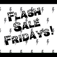 ⚡️⚡️FLASH SALE FRIDAYS!! ⚡️⚡️ ⚡️⚡️ Every Friday I will be discounting ten random items from my closet. But only for 24 hours! The lower prices will expire Friday at midnight and return back to normal! So be sure to check my closet every Friday for new and exciting deals! Happy shopping! ⚡️⚡️ Other