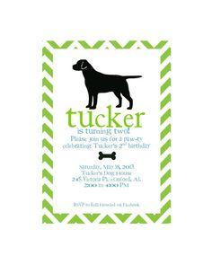 Dog Birthday Pawty Invitation Printable Version by MerelyMade, $12.00