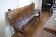 barn wood bench to match a barn wood table