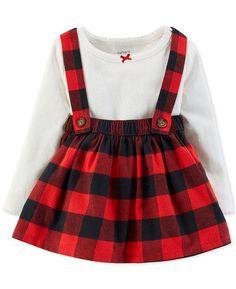 34700879953b Carter s Baby Girls 2-Pc. Bodysuit   Plaid Suspender Skirt Set   Reviews -  Sets   Outfits - Kids - Macy s