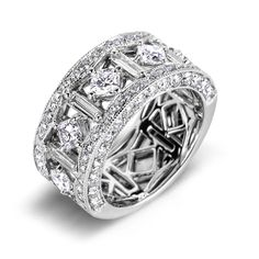 Diamond Anniversary Rings SGR879 (Rings)  out of price range, but like the over all band and diamonds on the side...