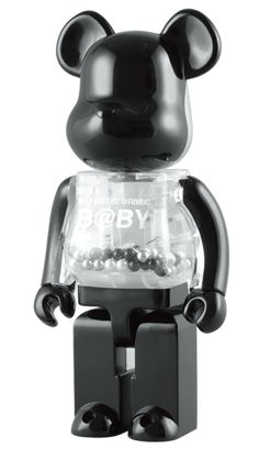 MY FIRST BE@RBRICK B@BY (BLACK & SILVER ver.) 400%