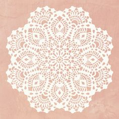 Our Victoria Lace Doily Stencil includes a silhouette and a detail layer to create an intricate and feminine pattern for a feature wall or painted furniture DIY project. This doily stencil is also inc Lace Stencil, Stencil Diy, Stencil Designs, Craft Stencils, Royal Design, Lace Design, Lace Doilies, Crochet Doilies, Crochet Mandala Pattern