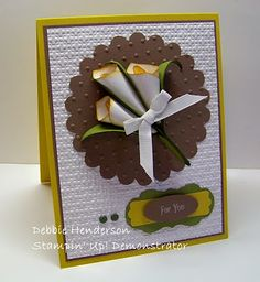 Debbie's Designs: Calla Lily & Tutorial using the ornament punch