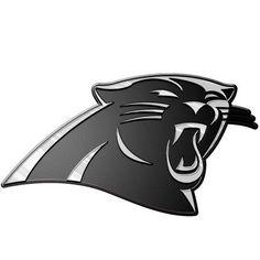 NFL Carolina Panthers Chrome Automobile Emblem, Silver