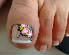 Uñas de modas Pedicure Nail Art, Toe Nail Art, Manicure And Pedicure, Toe Nail Designs, Nail Polish Designs, Mandala Nails, Glow Nails, Cute Toe Nails, Creative Nails