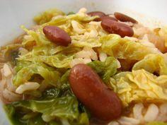 Cinco Quartos de Laranja: Arroz de feijão com couve lombarda