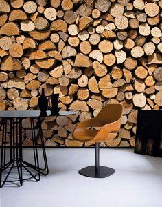 Firewood Wall Mural Wallpaper Photowall Home Decor Fototapet