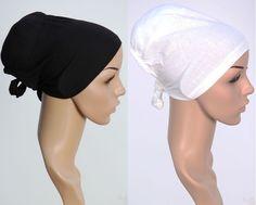 2 x Topuz BONE Untertuch Bandana mit Watte Hijab Islam 100% Baumwolle W. Schwarz