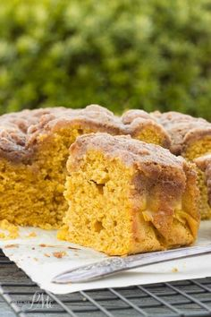 Easy Buttermilk Pumpkin Coffee Cake with Brown Sugar Streusel Recipe -Readers have told me this is the best coffee cake they've ever had. Spiced-pumpkin, super-moist, with the best pumpkin flavor. @libbyspumpkin @pmctunejones: